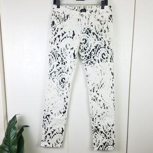 Alexander McQueen Patterned Skinny Jeans